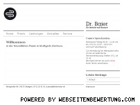 Ranking Webseite doktor-baier.de