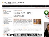 Ranking Webseite drdewes.de