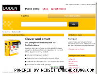 Ranking Webseite duden.de