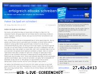 Ranking Webseite ebookschreibenblog.de