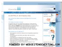 Ranking Webseite econtrol-glas.de