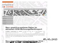 Ranking Webseite empirica-systeme.de