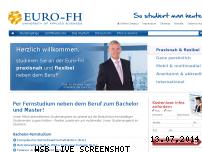 Informationen zur Webseite euro-fh.de