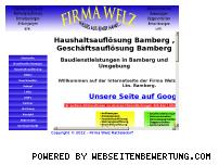 Informationen zur Webseite fa-welz.de