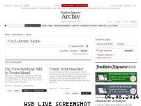 Ranking Webseite fazarchiv.faz.net