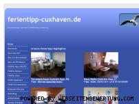 Ranking Webseite ferientipp-cuxhaven.de