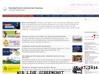 Informationen zur Webseite fh-zwickau.de