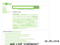 Ranking Webseite findashop.de