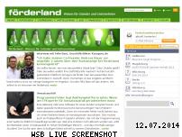 Informationen zur Webseite foerderland.de
