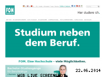 Informationen zur Webseite fom.de