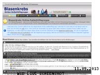 Ranking Webseite forum-blasenkrebs.net