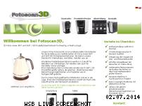 Informationen zur Webseite fotoscan3d.de