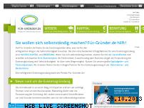 Ranking Webseite fuer-gruender.de