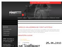 Ranking Webseite fuerst-autoteile.de