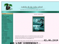 Informationen zur Webseite gedichte-die-das-leben-schrieb.de
