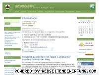 Ranking Webseite gemeinde-tespe.de