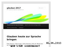 Ranking Webseite glauben2017.de