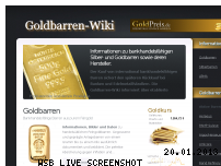 Ranking Webseite goldbarren-wiki.de