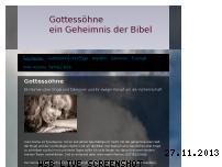 Informationen zur Webseite gottessoehne.jimdo.com