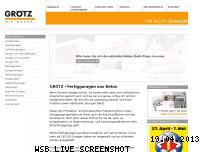 Ranking Webseite groetz-fertiggaragen.de