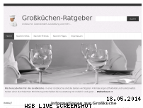 Informationen zur Webseite grosskuechen-ratgeber.de