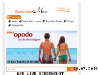 Ranking Webseite gutscheinmieze.de