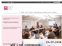 Informationen zur Webseite hamburgmediaschool.de