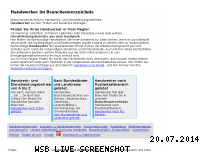 Ranking Webseite handwerkernet.de