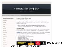 Informationen zur Webseite handykarten-vergleich.de