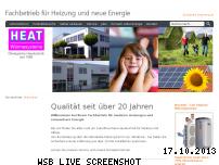 Ranking Webseite heat.de