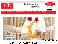 Informationen zur Webseite heimtex.ch