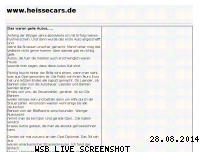Ranking Webseite heissecars.de