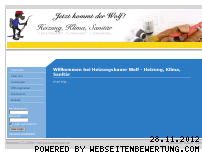 Ranking Webseite heizungsbauer-wolf.de
