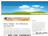 Ranking Webseite huahin.auslandsblog.de