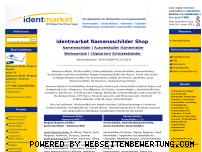 Informationen zur Webseite identmarket.de