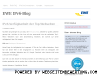 Ranking Webseite ipv6.ewe.de