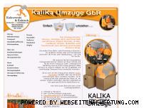 Informationen zur Webseite kalika-umzuege.de
