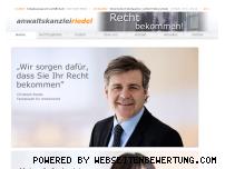 Ranking Webseite kanzlei-riedel.de