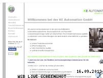 Informationen zur Webseite ke-automation.de