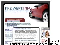 Informationen zur Webseite kfz-wert.info