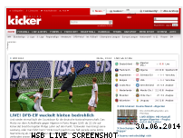 Ranking Webseite kicker.de