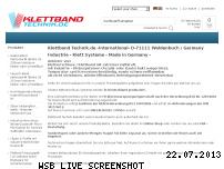 Ranking Webseite klettband-technik.de