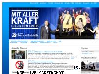 Ranking Webseite krebshilfe.de