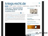 Informationen zur Webseite kriegs-recht.de