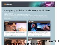 Ranking Webseite lakeparty.de
