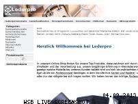 Informationen zur Webseite lederpro.de