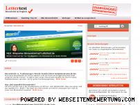 Ranking Webseite lettertest.de