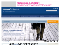 Informationen zur Webseite managerseminare.de