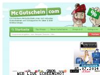 Informationen zur Webseite mcgutschein.com