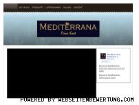 Informationen zur Webseite mediterrana-feinkost.de